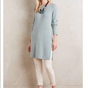 🎉Anthropologie Moth Split Side Tunic Sweater